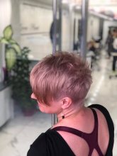 haircut and color